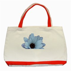 Daisy Flower Floral Plant Summer Classic Tote Bag (red)