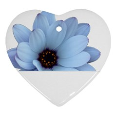 Daisy Flower Floral Plant Summer Heart Ornament (Two Sides)