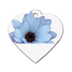 Daisy Flower Floral Plant Summer Dog Tag Heart (Two Sides)
