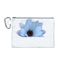 Daisy Flower Floral Plant Summer Canvas Cosmetic Bag (m)