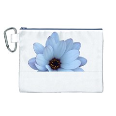 Daisy Flower Floral Plant Summer Canvas Cosmetic Bag (l)