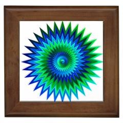Star 3d Gradient Blue Green Framed Tiles