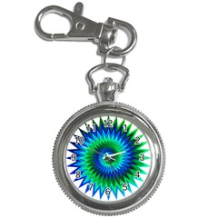 Star 3d Gradient Blue Green Key Chain Watches