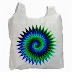 Star 3d Gradient Blue Green Recycle Bag (One Side)