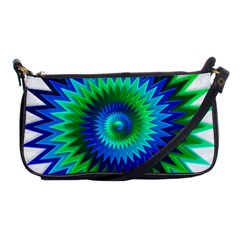 Star 3d Gradient Blue Green Shoulder Clutch Bags
