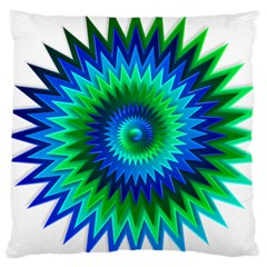 Star 3d Gradient Blue Green Large Cushion Case (one Side)