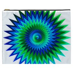 Star 3d Gradient Blue Green Cosmetic Bag (XXXL)