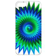 Star 3d Gradient Blue Green Apple Iphone 5 Classic Hardshell Case