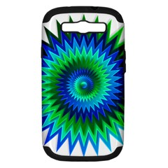 Star 3d Gradient Blue Green Samsung Galaxy S Iii Hardshell Case (pc+silicone)