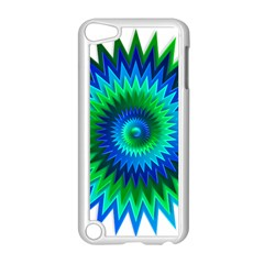 Star 3d Gradient Blue Green Apple Ipod Touch 5 Case (white)