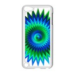 Star 3d Gradient Blue Green Apple iPod Touch 5 Case (White) Front