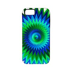 Star 3d Gradient Blue Green Apple iPhone 5 Classic Hardshell Case (PC+Silicone)