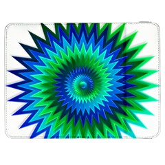 Star 3d Gradient Blue Green Samsung Galaxy Tab 7  P1000 Flip Case