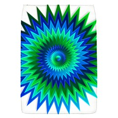 Star 3d Gradient Blue Green Flap Covers (s)