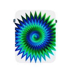 Star 3d Gradient Blue Green Apple Ipad 2/3/4 Protective Soft Cases