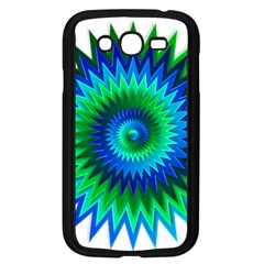 Star 3d Gradient Blue Green Samsung Galaxy Grand Duos I9082 Case (black)