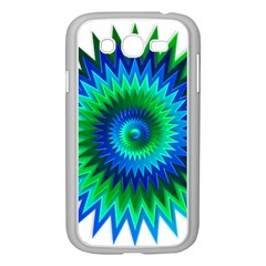 Star 3d Gradient Blue Green Samsung Galaxy Grand Duos I9082 Case (white)