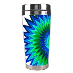 Star 3d Gradient Blue Green Stainless Steel Travel Tumblers