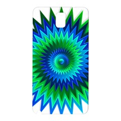 Star 3d Gradient Blue Green Samsung Galaxy Note 3 N9005 Hardshell Back Case