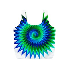 Star 3d Gradient Blue Green Full Print Recycle Bags (s)
