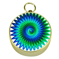 Star 3d Gradient Blue Green Gold Compasses