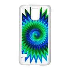 Star 3d Gradient Blue Green Samsung Galaxy S5 Case (white)