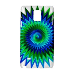 Star 3d Gradient Blue Green Samsung Galaxy Note 4 Hardshell Case