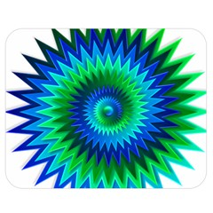 Star 3d Gradient Blue Green Double Sided Flano Blanket (medium)
