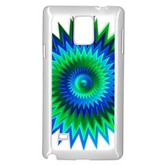 Star 3d Gradient Blue Green Samsung Galaxy Note 4 Case (white)