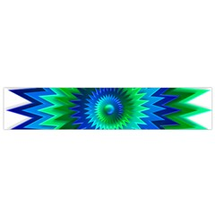 Star 3d Gradient Blue Green Flano Scarf (Small)