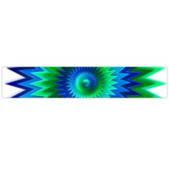 Star 3d Gradient Blue Green Flano Scarf (large)