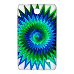 Star 3d Gradient Blue Green Samsung Galaxy Tab 4 (7 ) Hardshell Case
