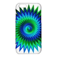 Star 3d Gradient Blue Green iPhone 6/6S TPU Case