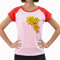 Flowers Spring Yellow Spring Onion Women s Cap Sleeve T Shirt