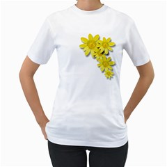 Flowers Spring Yellow Spring Onion Women s T-Shirt (White) (Two Sided)