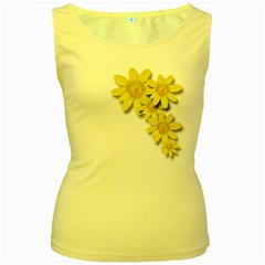 Flowers Spring Yellow Spring Onion Women s Yellow Tank Top