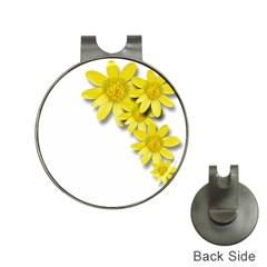 Flowers Spring Yellow Spring Onion Hat Clips with Golf Markers