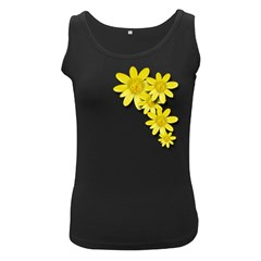 Flowers Spring Yellow Spring Onion Women s Black Tank Top