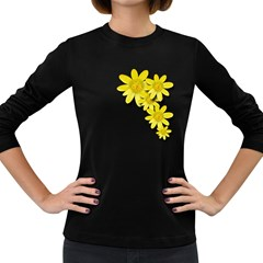 Flowers Spring Yellow Spring Onion Women s Long Sleeve Dark T-Shirts
