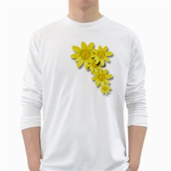 Flowers Spring Yellow Spring Onion White Long Sleeve T-Shirts