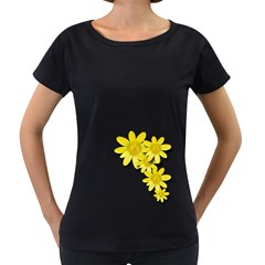 Flowers Spring Yellow Spring Onion Women s Loose-Fit T-Shirt (Black)