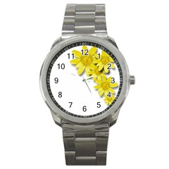 Flowers Spring Yellow Spring Onion Sport Metal Watch