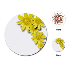 Flowers Spring Yellow Spring Onion Playing Cards (round)