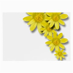 Flowers Spring Yellow Spring Onion Large Glasses Cloth (2 Side)