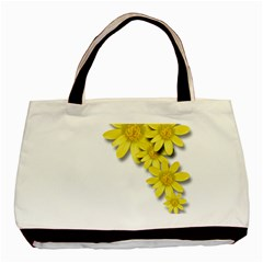 Flowers Spring Yellow Spring Onion Basic Tote Bag (two Sides)