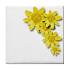Flowers Spring Yellow Spring Onion Face Towel