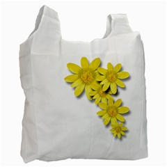 Flowers Spring Yellow Spring Onion Recycle Bag (two Side)