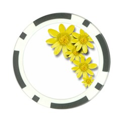 Flowers Spring Yellow Spring Onion Poker Chip Card Guard (10 Pack)