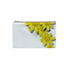 Flowers Spring Yellow Spring Onion Cosmetic Bag (Small)