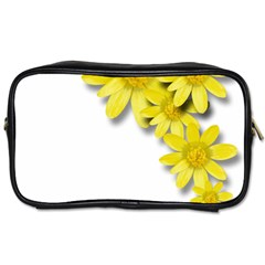 Flowers Spring Yellow Spring Onion Toiletries Bags 2 Side
